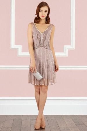 Art Deco Cocktail Dress Bonnie Dress 1920s 20s Inspired Art