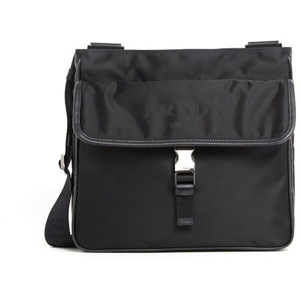 PRADA Nylon Satchel ( 775) ❤ liked on Polyvore featuring men s fashion 78962b26bae0a