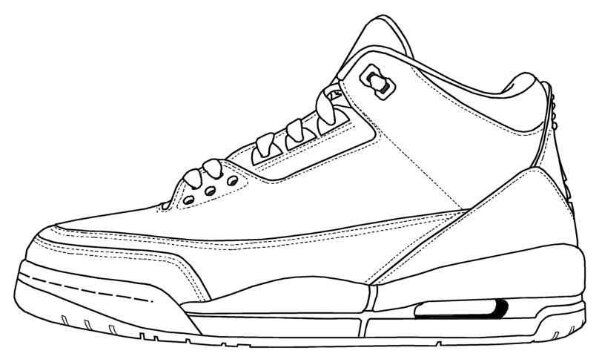 Retro Jordans Coloring Pages - Retro Future