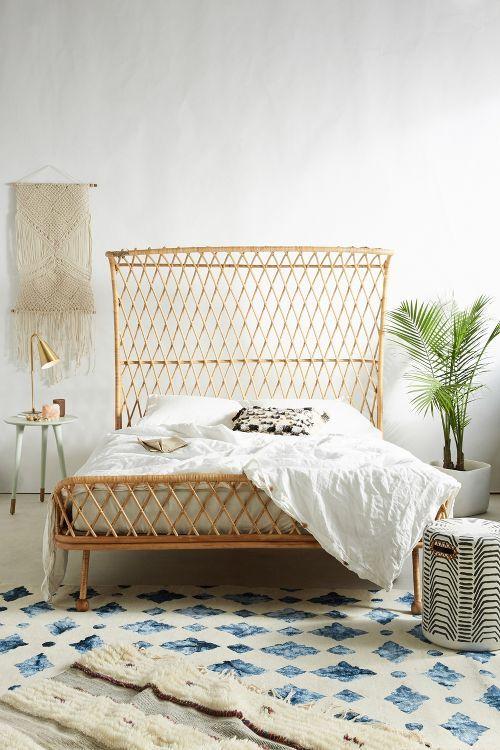Curved Rattan Bed Home Yatak Odasi Ev Dekoru Dekorasyon Fikirleri
