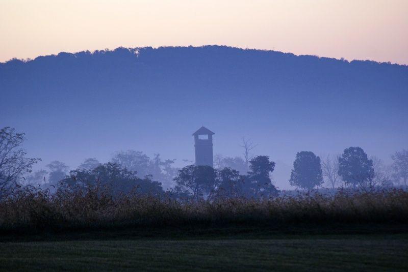 Antietam blue morning haze photograph by shannon wagner