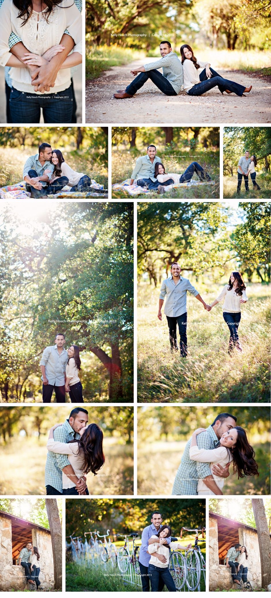 I want an outdoor engagement session with a vintage look