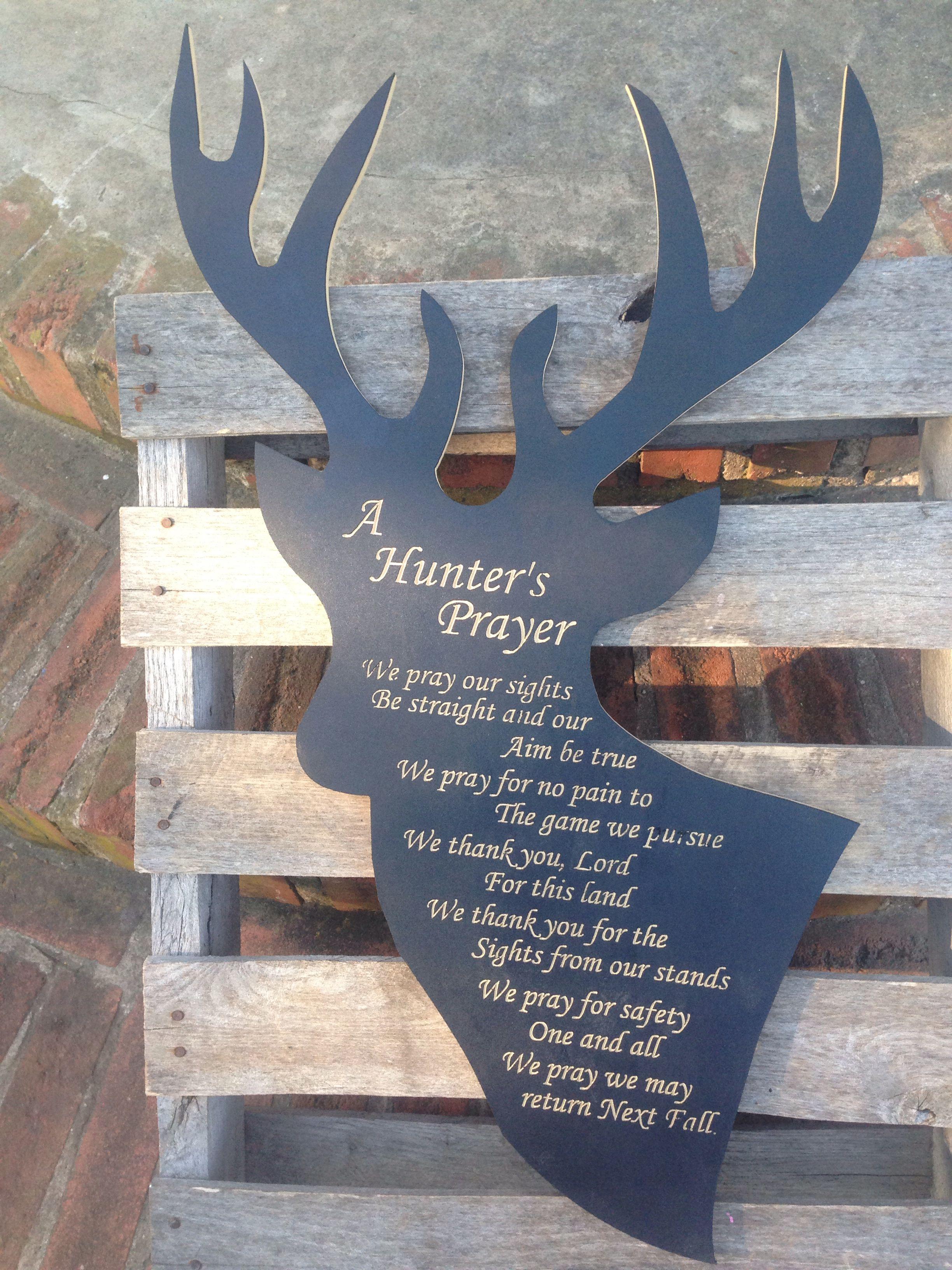 Deer With Engraved Hunters Prayer