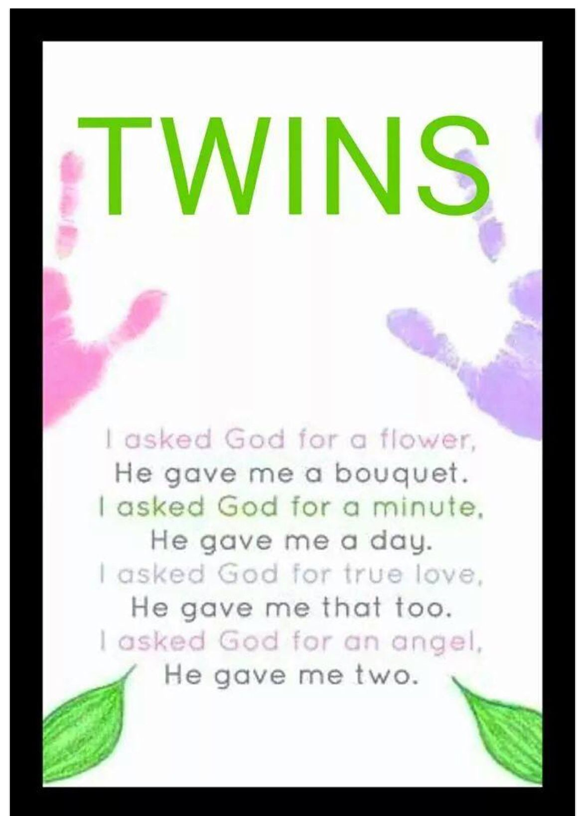 Twins Poem Twin Quotes Cute Twins Twin Mom Quotes