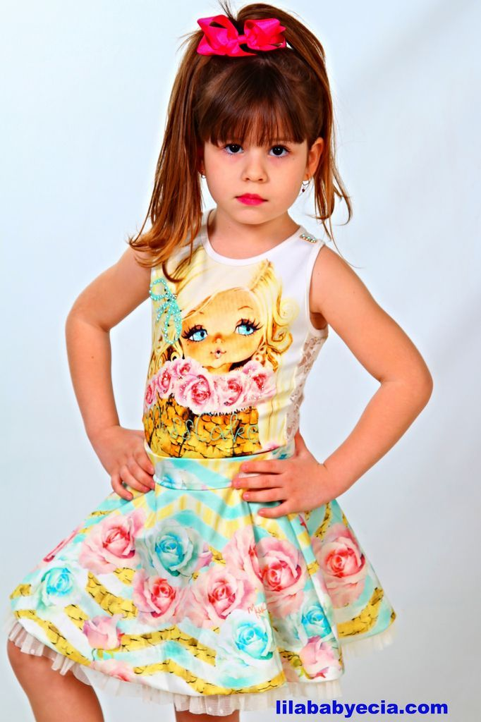 Vestido Infantil Miss Cake Doce Princesa 510135 | Moda