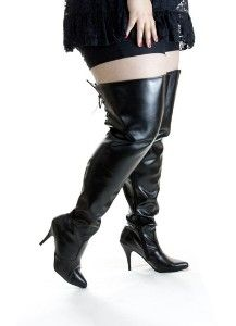 ebf84bbb040 Plus Size Ultra Shaft Thigh High Wide Calf Boots Size 13 15 ...