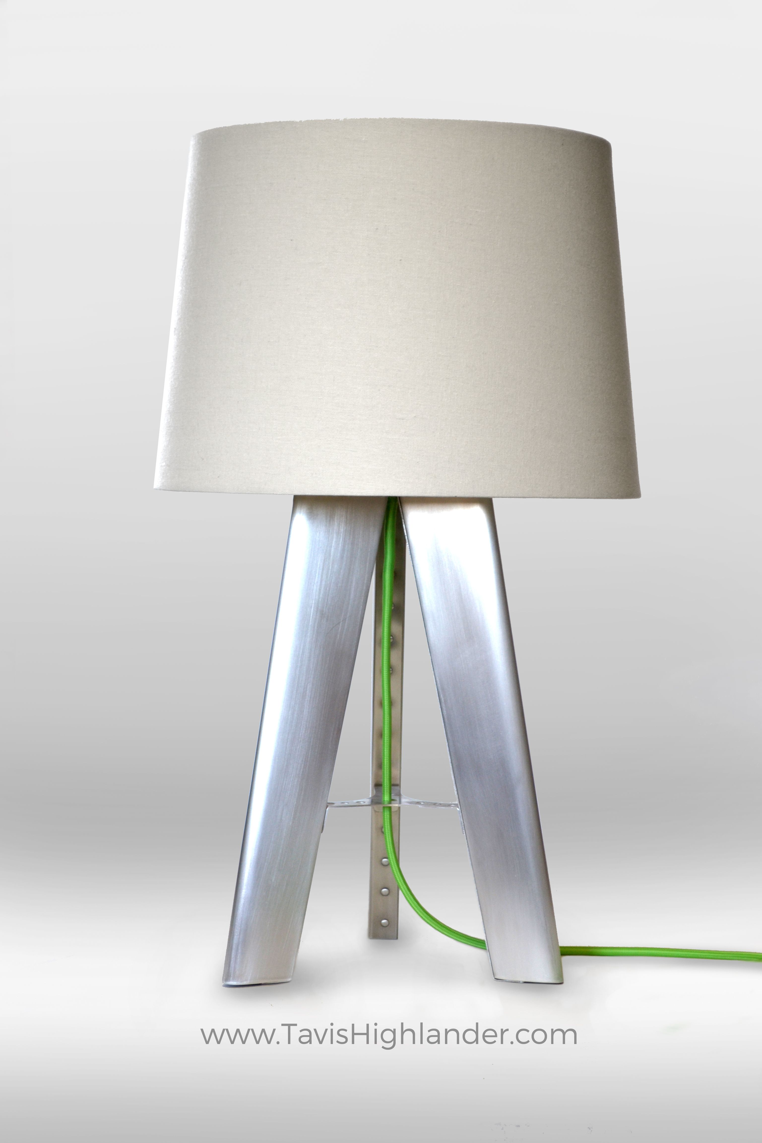 Aluminum Sheet Metal Riveted Rivets Bead Rolled Punch Flared Industrial Style Aviation Aerospace Inspired Lamp Industrial St Tripod Lamp Table Lamp Lamp