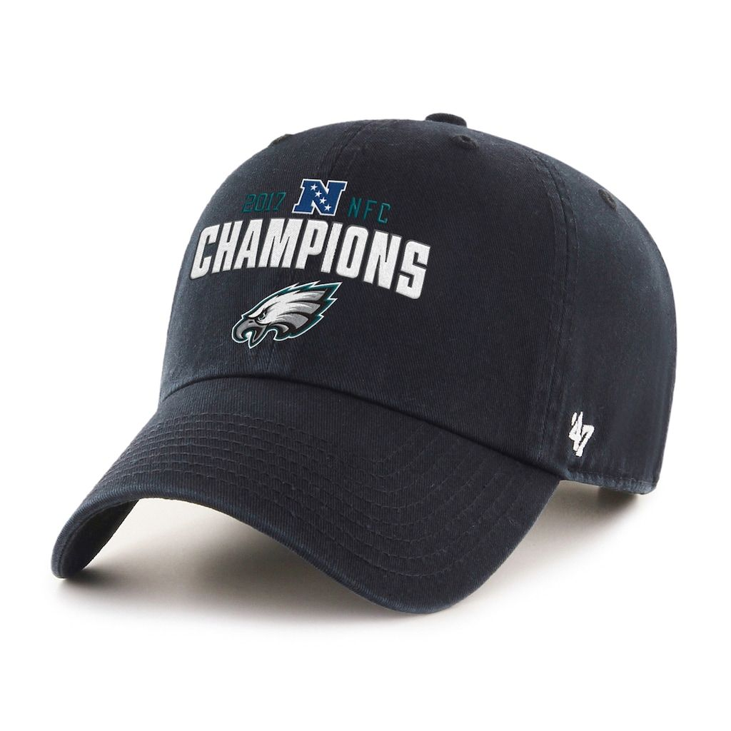 5613bfbbc1bd5b Adult '47 Brand Philadelphia Eagles 2017 NFC Champions Conference Cap,  Men's, Black