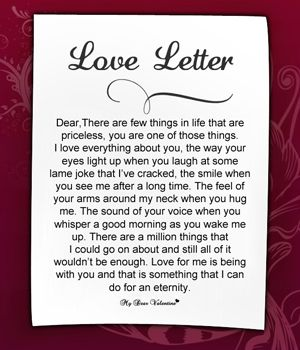 love letter to my girlfriend