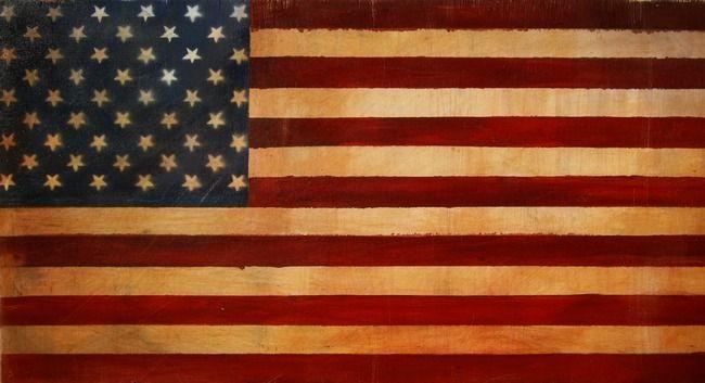 Quot Vintage American Flag Quot By Adam Varga American Flag