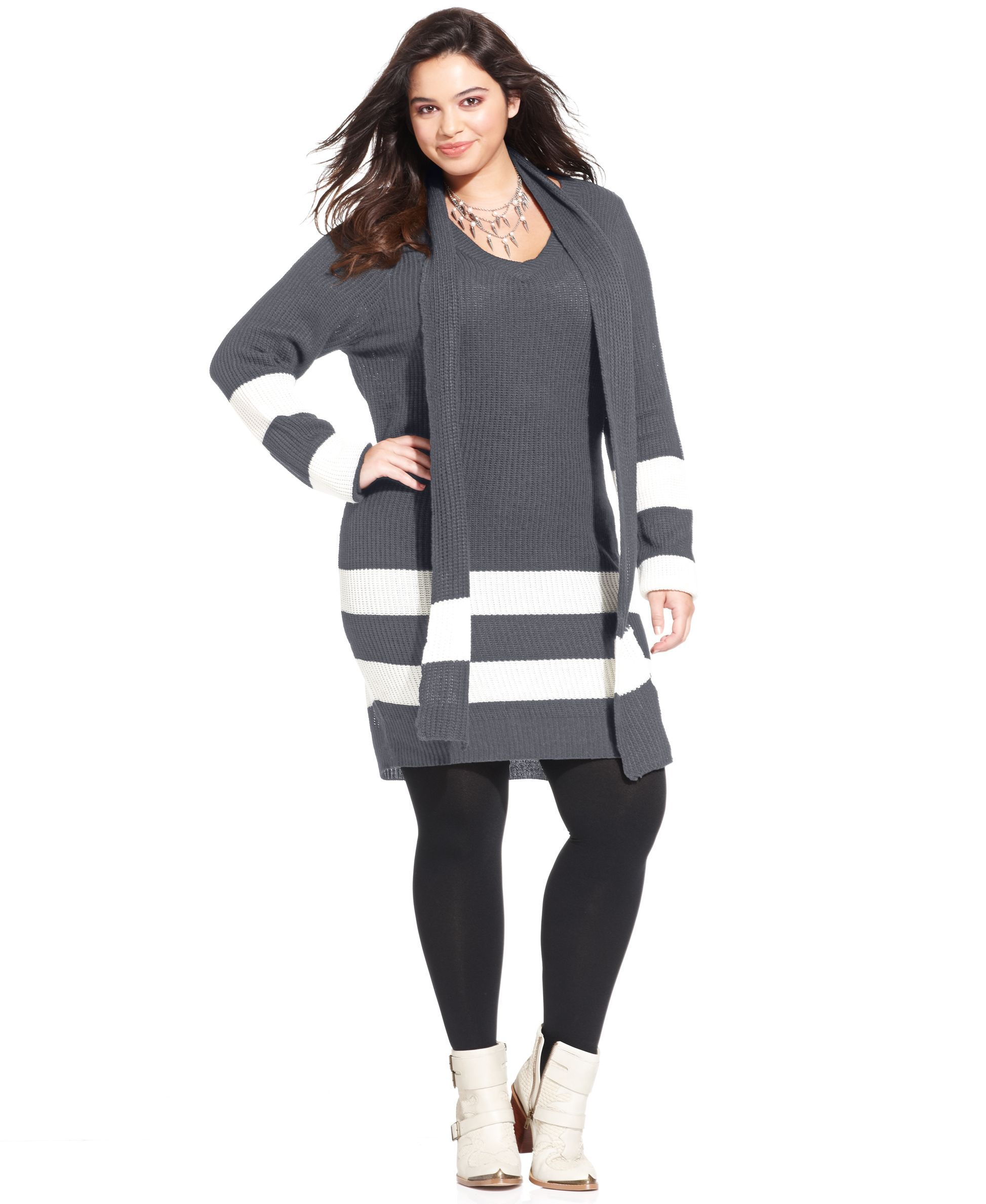 Extra Touch Plus Size Striped Tunic Sweater | Products | Pinterest ...
