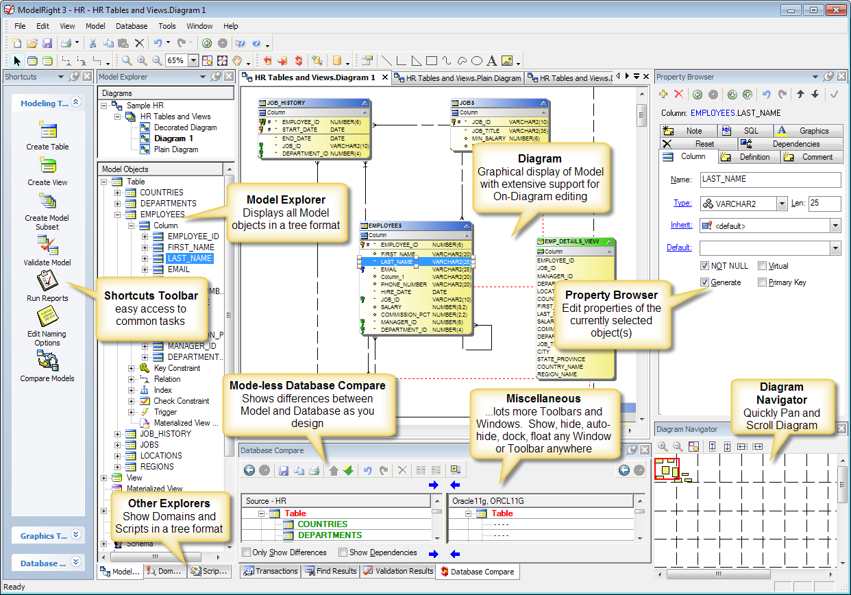 Relational database design examples sql server database for Application design tools