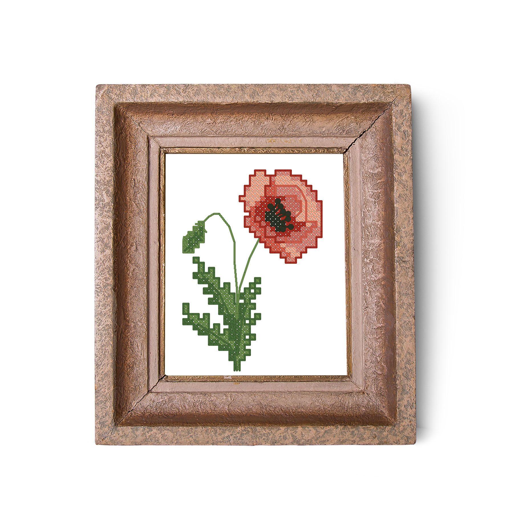 Flower set cross stitch pattern flower sampler flowers pdf pattern