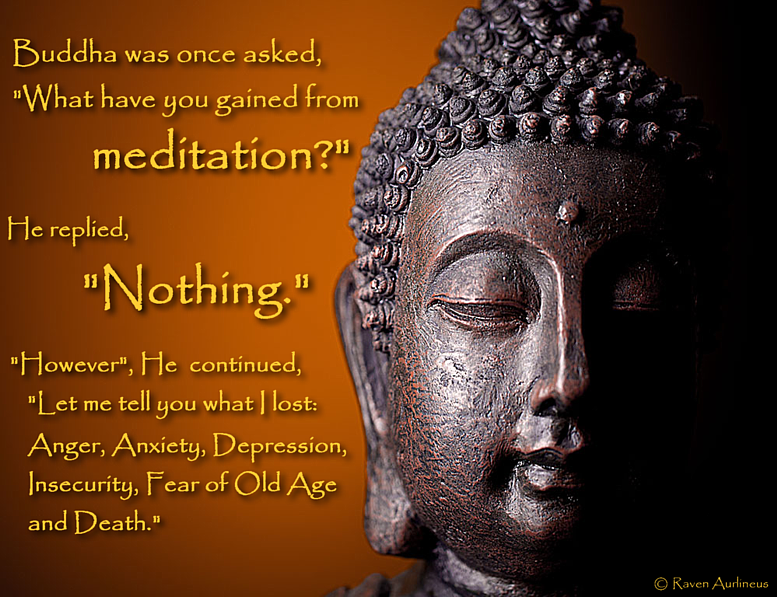 Wise words about meditation from Lord Buddha.... (Click to view larger version.)