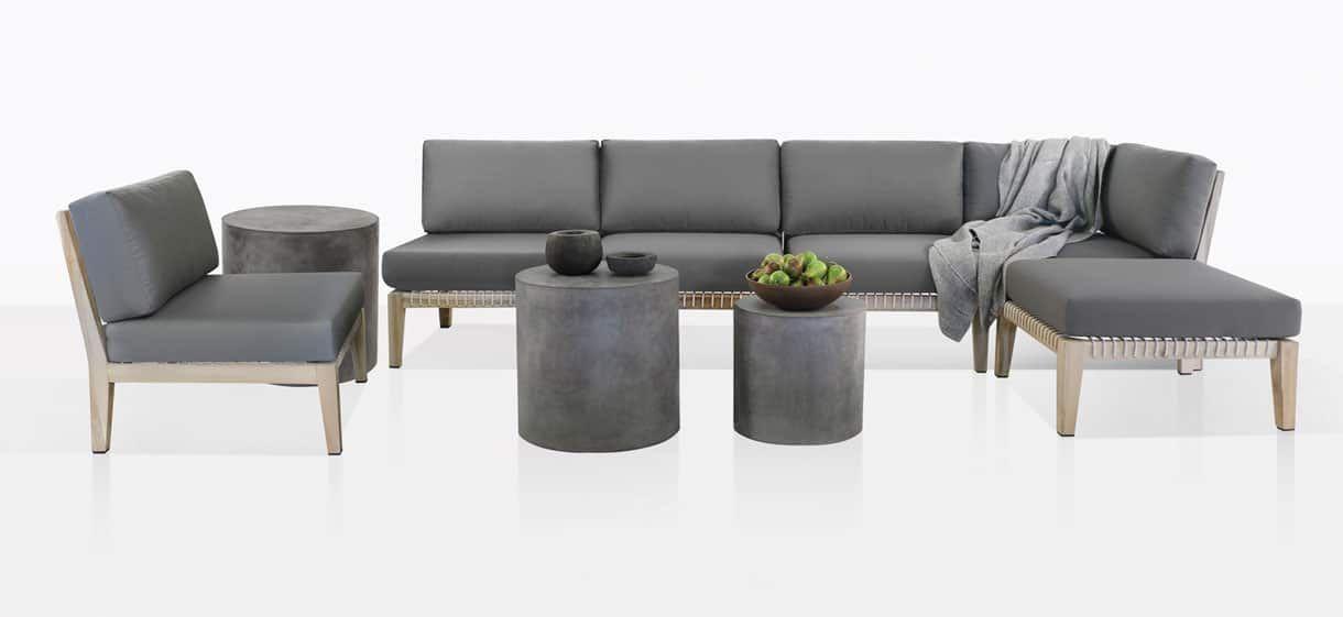 Bay Teak Outdoor Furniture Collection Relaxing Patio Set Teak