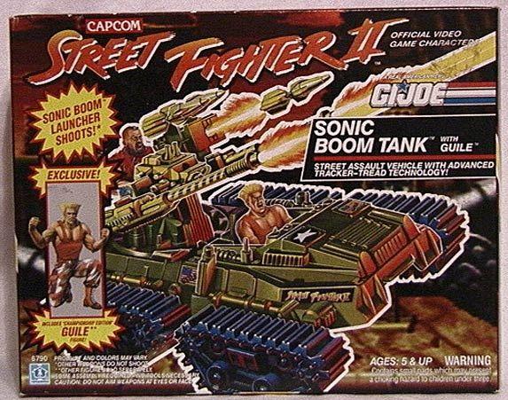 GI Joe Vehicle Street Fighter II Sonic Boom Tank Missile 1993 Original Part