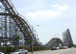 Myrtle Beach Hurricane Wooden Roller Coaster Pov Defunct Pavilion Amut Park Rode This The Last Weekend It Was There