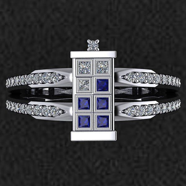 17 Fandom Engagement Rings That Are Actually Beautiful Doctor Who Wedding Tardis Ring Geek Engagement Rings