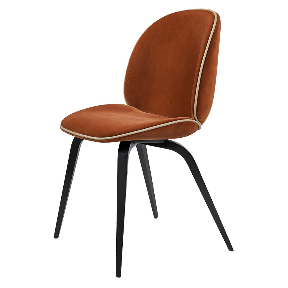 Gubi Beetle Chair Fully Upholstered Dining Chair Orange Dining Chairs Beetle Chair