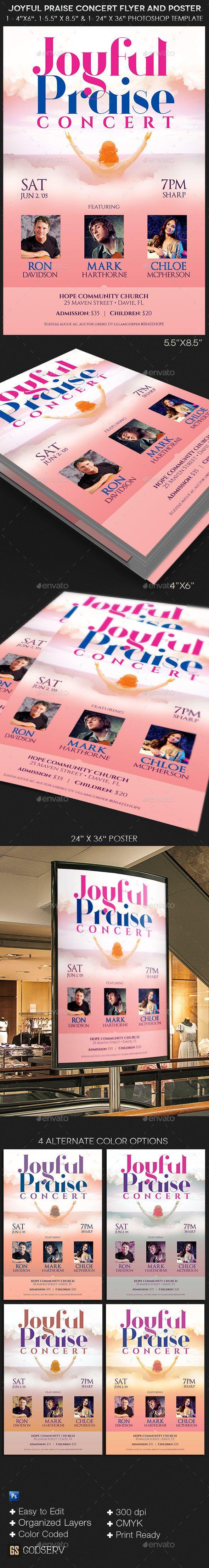 Joyful Praise Concert Flyer Poster Template  Concert Flyer