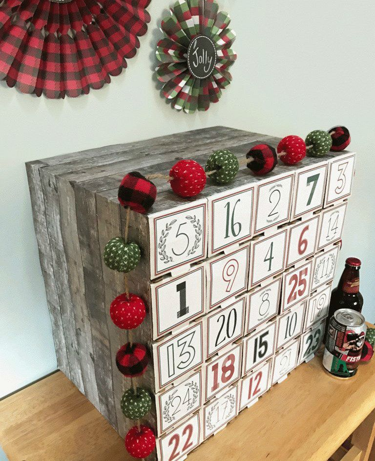 adventskalender f r m nner bier adventskalender selber machen deko und t rschmuck aus holz. Black Bedroom Furniture Sets. Home Design Ideas