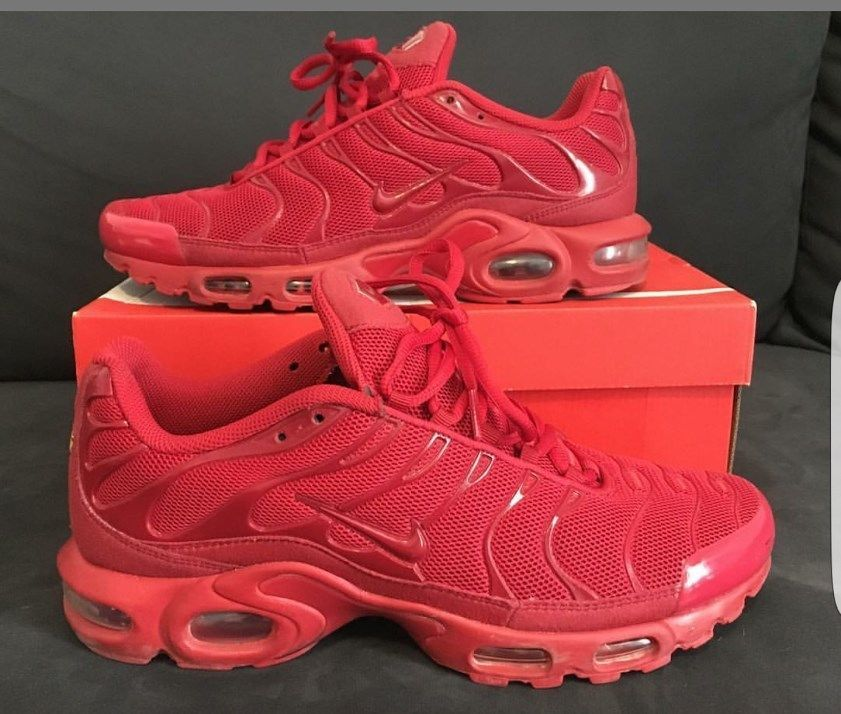 "b491a37598 Exclusive Nike Air Max Plus Tuned 1 Tn ""RED"