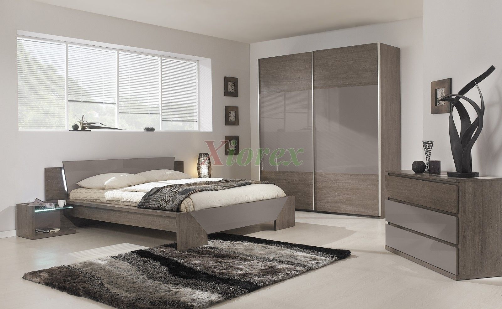 Best Modern Bed Gami Trapeze Bed Set Modern Bedroom Set By 400 x 300