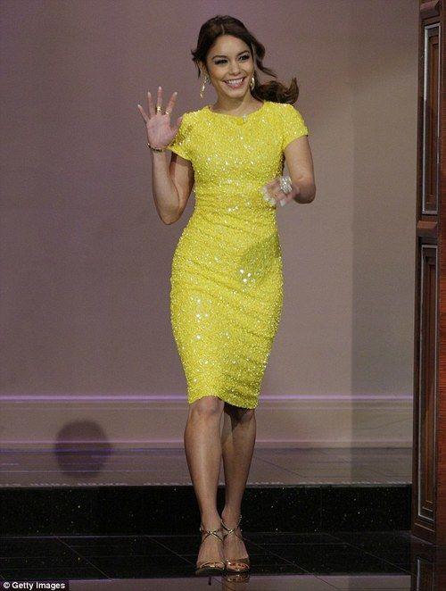 Yellow Sequin Dress