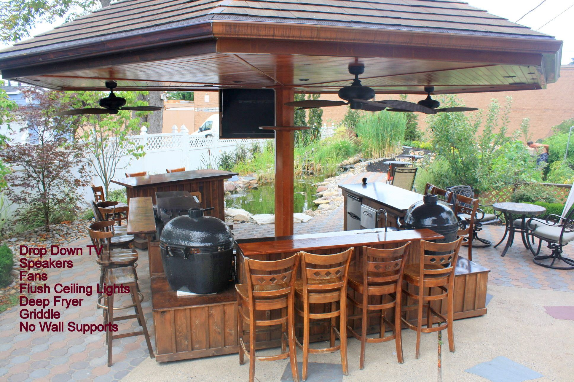 custom outdoor kitchen for the big green egg kamado joe primo