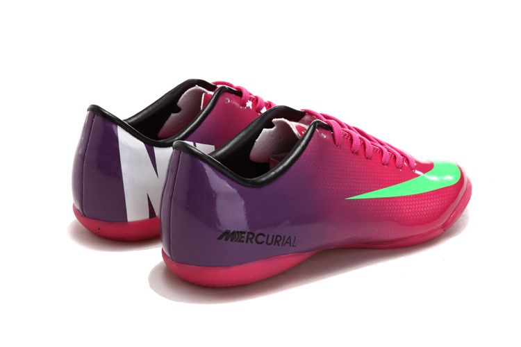 eb3936d55e5f Nike Mercurial Vapor IX IC Indoor Soccer Shoes Deep Pink Purple Green