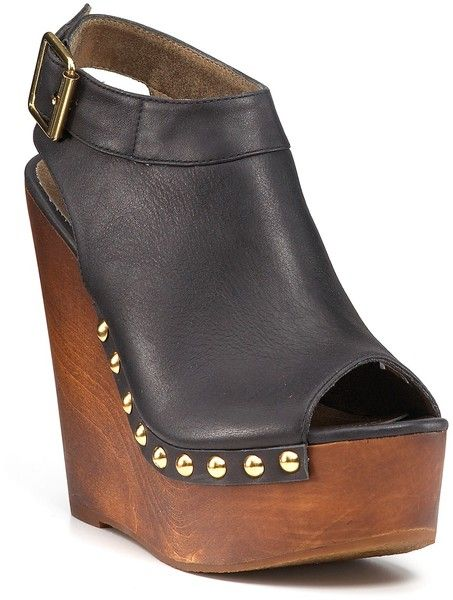 511bf29c6 Steve Madden Warrick Clog Wedge Booties - Lyst | Shoes :) | Shoes ...