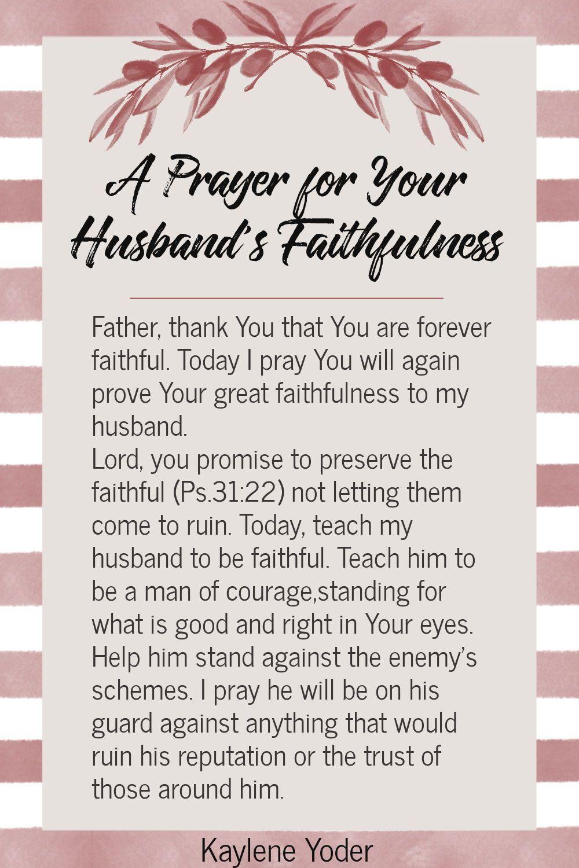 A Prayer for Your Husband's Faithfulness