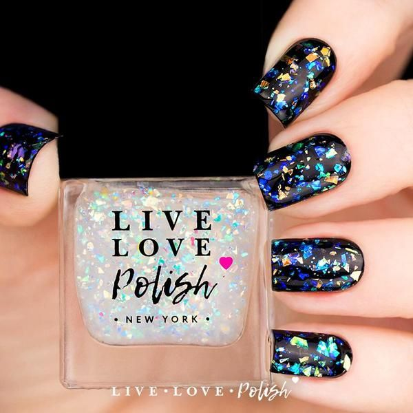 Live Love Polish Pavé is an iridescent flake topper.This nail polish ...