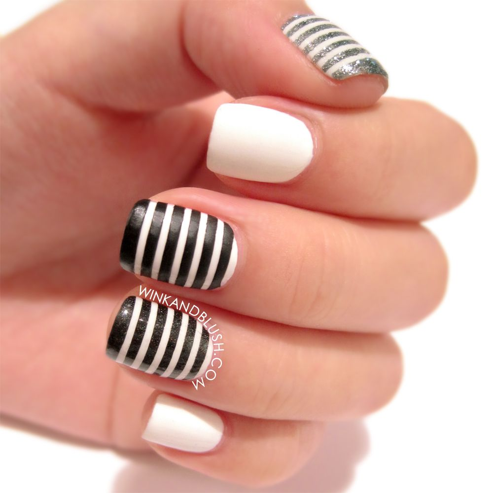 Black and white nail designs are the best choices for glamorous ...