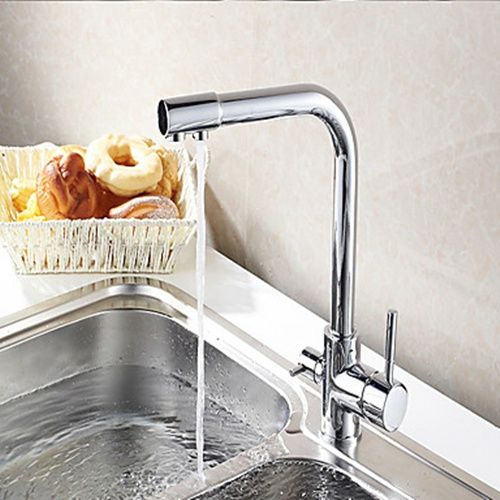 The Arbitrary Rotation Copper Color Universal Hot and Cold Kitchen Faucet At FaucetsDeal.com