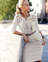 Embellished retro cardigan, available in sizes 2-18.