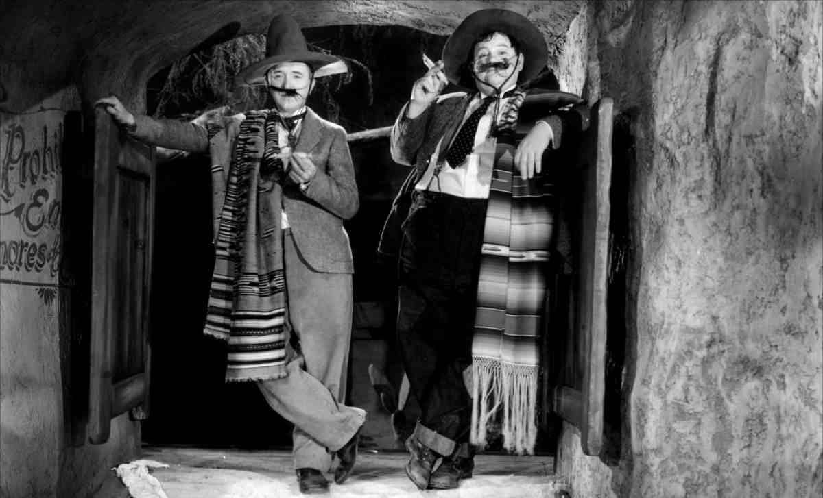 Laurel and Hardy are ready for Cinco de Mayo.