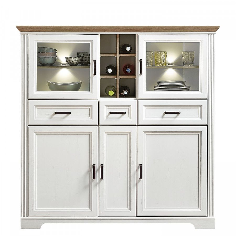 Highboard Jasmund Ii Highboard Sideboard Weiss Landhaus