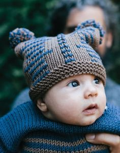 Babymuts Breien Met Pompons Handwerk Pinterest Knitting Baby