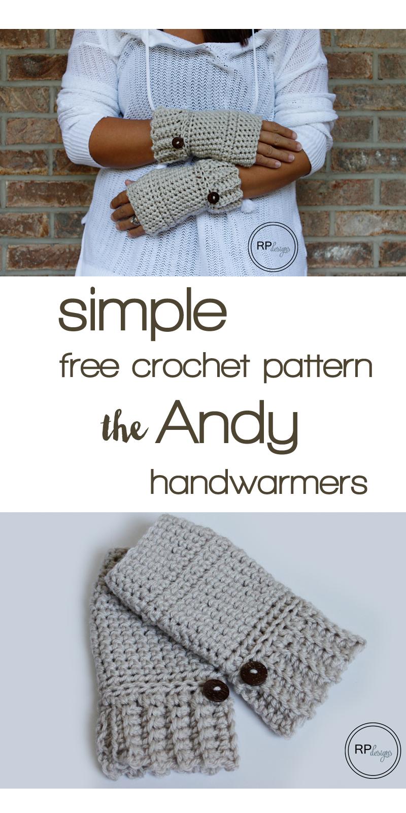 Simple Crochet Hand Warmer Pattern | Guantes, Mitones y Tejido