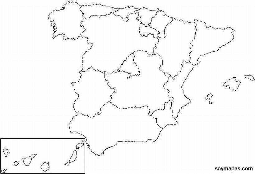 Mapa España Provincias Blanco.Mapa De Espana En Blanco Por Provincias Mapas De Espana Y