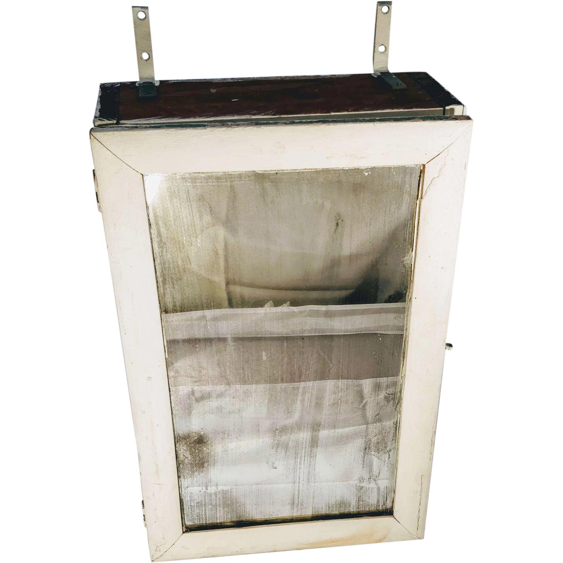 Vintage Medicine Cabinet Bathroom Mirror Wood Cupboard Old Shabby Chic Chippy Wall Mount Shelf Farmhouse Vintage Medicine Cabinets Wood Cupboard Vintage House [ 1928 x 1928 Pixel ]