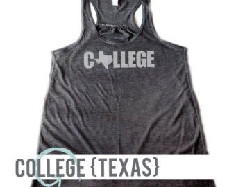 WOMEN'S Soft Blend Flowy Racerback Tank | College O as Texas | Texas College Apparel | Texas University | College Clothing | College Tee