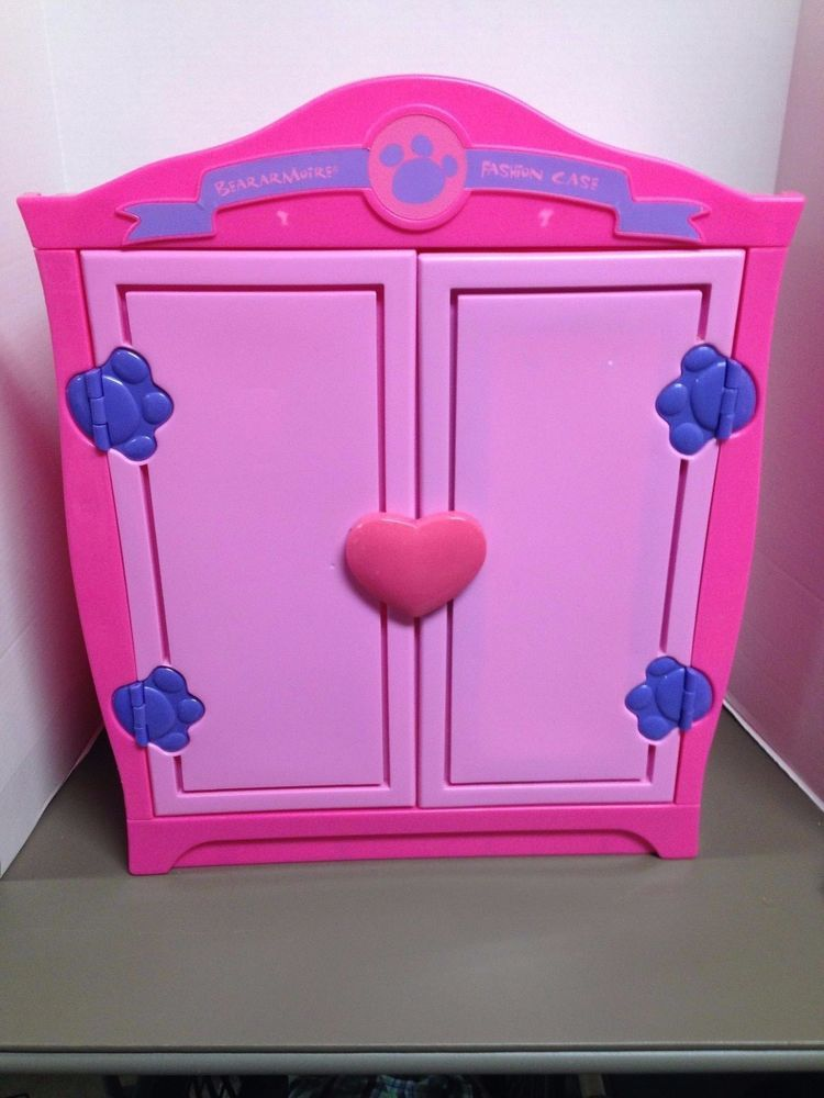 Charmant Build A Bear Beararmoire Closet Pink Girl Wardrobe Case With Hangers