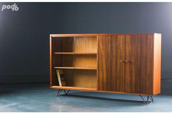 Morris Of Glasgow Teak Display Cabinet 1960s Vinterior Co