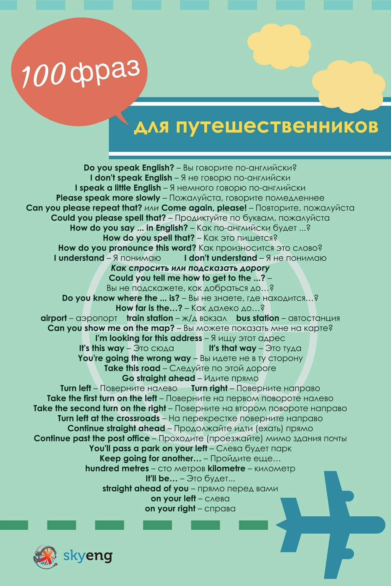 Фразы для туристов (с изображениями) | Английский, Изучать ...