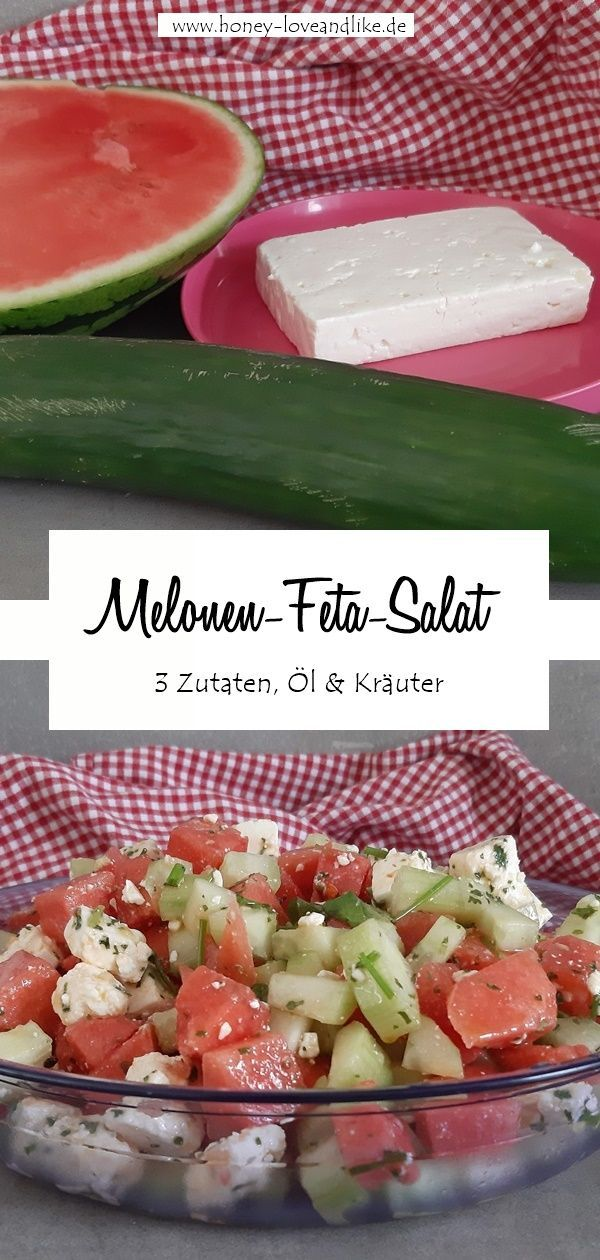 Photo of The easiest and best melon feta salad in the world