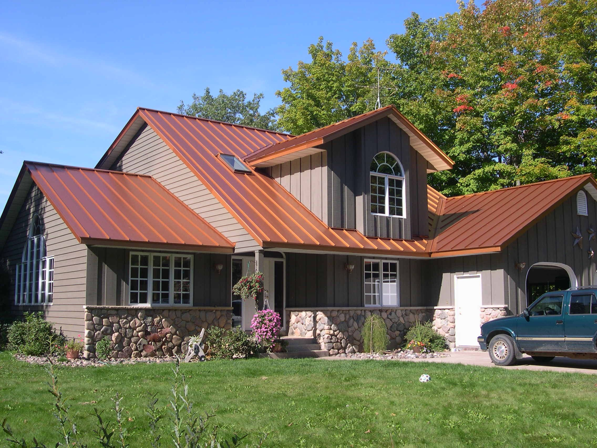 Copper Penny Standing Seam Roof Copper Roof House Metal Roof Houses Metal Roof Colors