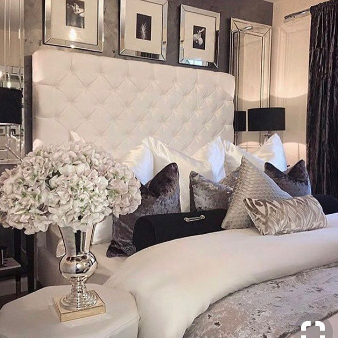 Luxuriöse Schlafzimmer, Moderne Schlafzimmer, Idee Farbe, Romantisch  Wohnen, Deko Wand, Flur Ideen, Zimmer Einrichten, Schönes Leben, Garten Haus
