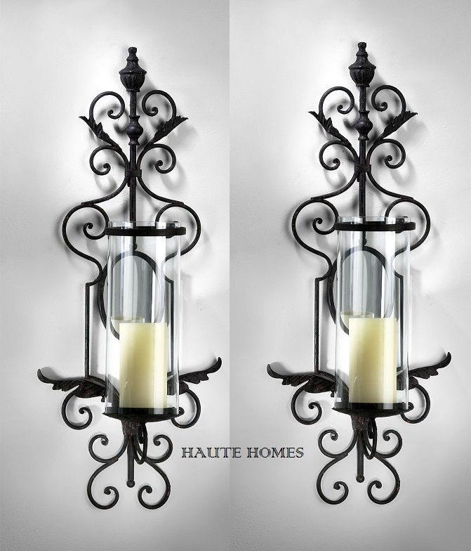 Details About New Tuscan French Antique Scroll 29 H Iron Candle